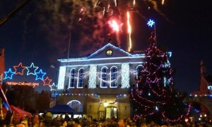 Melksham Christmas fair and lights